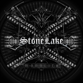 """The CD-cover to: """"StoneLake - Monolith""""."""